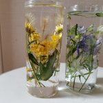 お庭の花のドライフラワーと簡単ハーバリウム